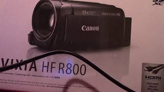 canon hf r800  data  show on pc but would not import video data.