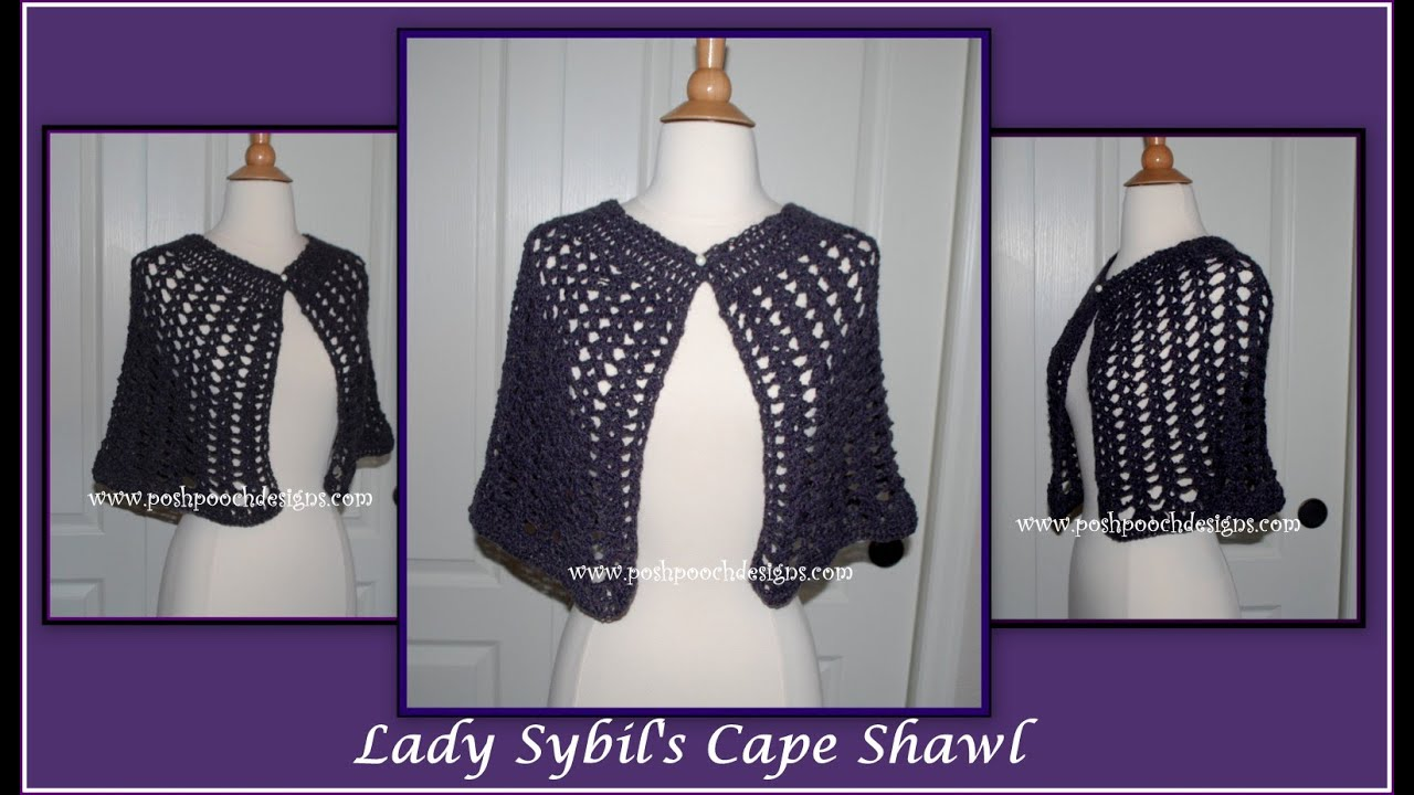 Lady sybils lace cape shawl crochet pattern youtube bankloansurffo Choice Image
