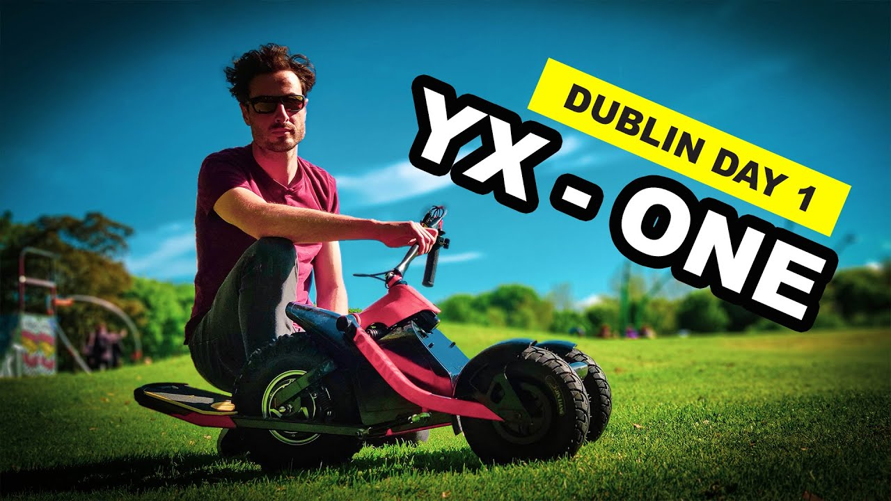 YX-ONE 3 Wheel leaning electric Skateboard from Ireland / Electric Powered 3 wheel skateboard