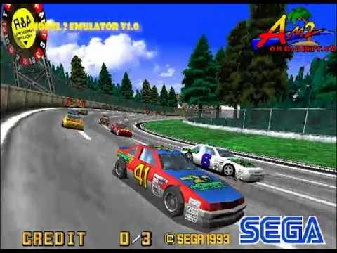 Daytona USA - MAME v0 144u4 vs MODEL 2 Emulator v1 0 - YouTube