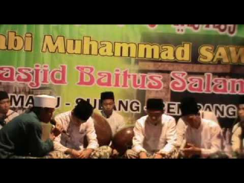 Sholawat Nabi _hadroh group Annur di Masjid Baitussalam Kemadu