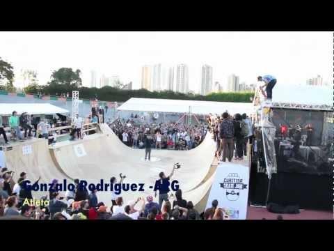 HWS Plus+ - Gonzalo Rodriguez-ARG Dropando do Alto no Curitiba Skate Jam 2012