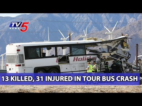13 Killed in Tour Bus And Truck Crash in Palm Springs | California | TV5 News