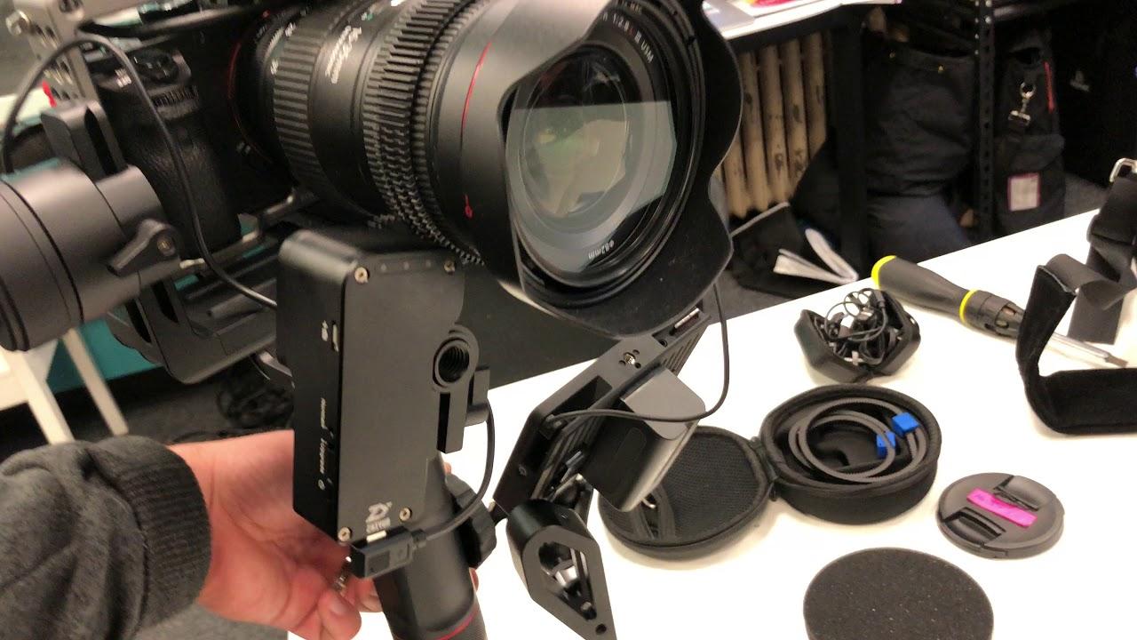 Zhiyun Crane 2 External Follow Focus Small Hd Monitor And The Sony Servo Mechanical A7sii