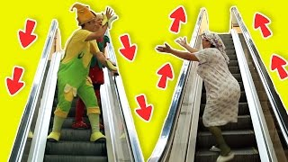 فوزي موزي وتوتي – درج متحرك -  Escalators
