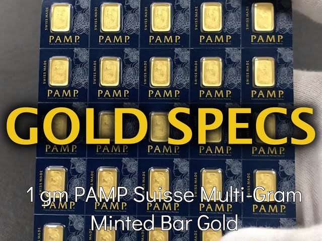 Gold Specs- 1 gm PAMP Suisse Minted Gold Bar