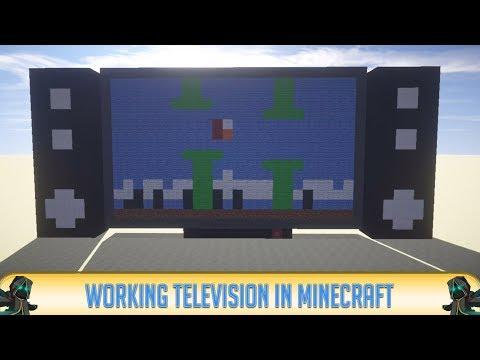 Minecraft: REDSTONE CREATIONS! - Working TV (Television) in MINECRAFT! | 2016 | HD
