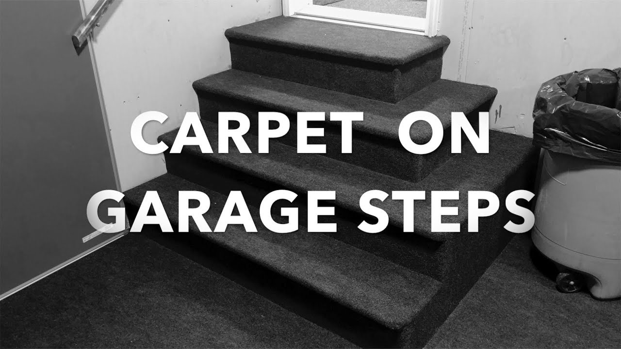 Installing Indoor Outdoor Carpet On Garage Steps.