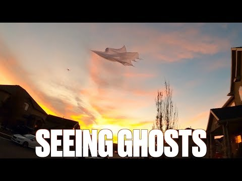 INSANE HALLOWEEN SCARE PRANK | GHOST FLYING BETWEEN HOUSES ON HALLOWEEN NIGHT CAUGHT ON CAMERA
