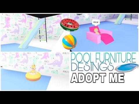 7-custom-pool-furniture-designs-|-adopt-me---building-hacks