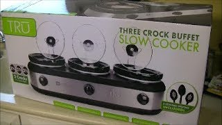 unboxing review TRU Triple Slow Cooker Buffet Server Set