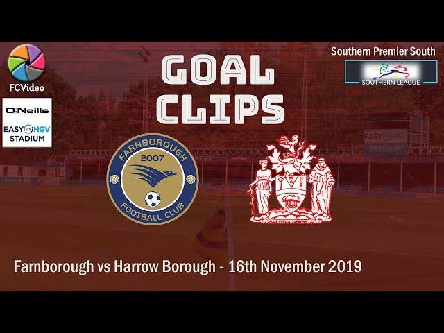 2019-11-16 | Farnborough vs Harrow Borough | Goals