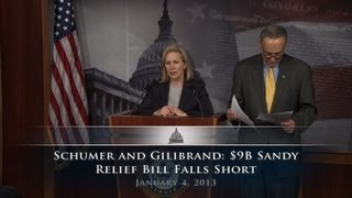 Schumer and Gillibrand: $9B Sandy Relief Bill Falls Short of Aid Needed