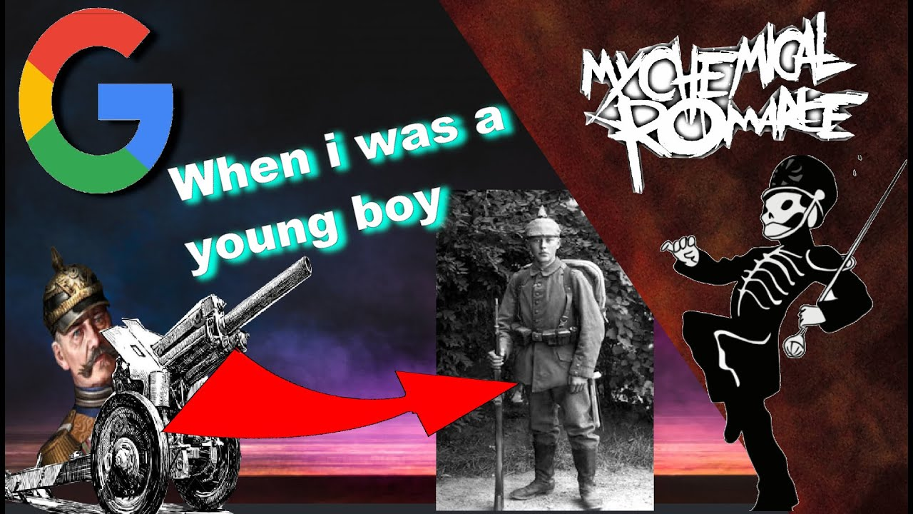 Welcome to the Black Parade but every word is a gif