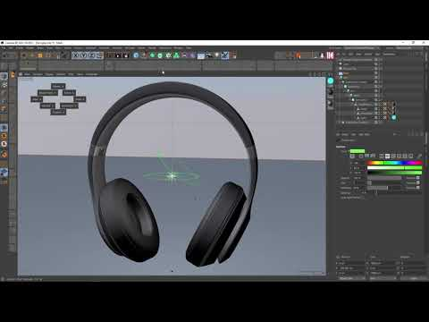 Cinema 4D - 01 - Vẽ tai nghe Headphone