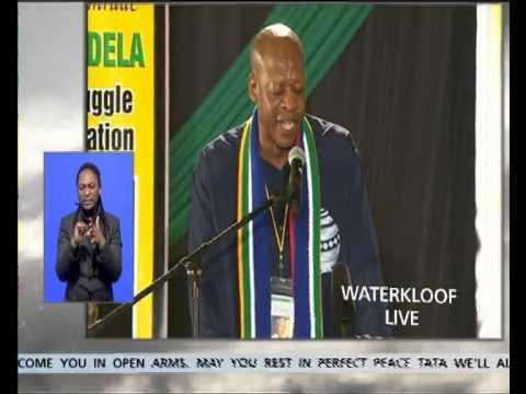 Mzwakhe Mbuli at Madiba's send-off at Waterkloof