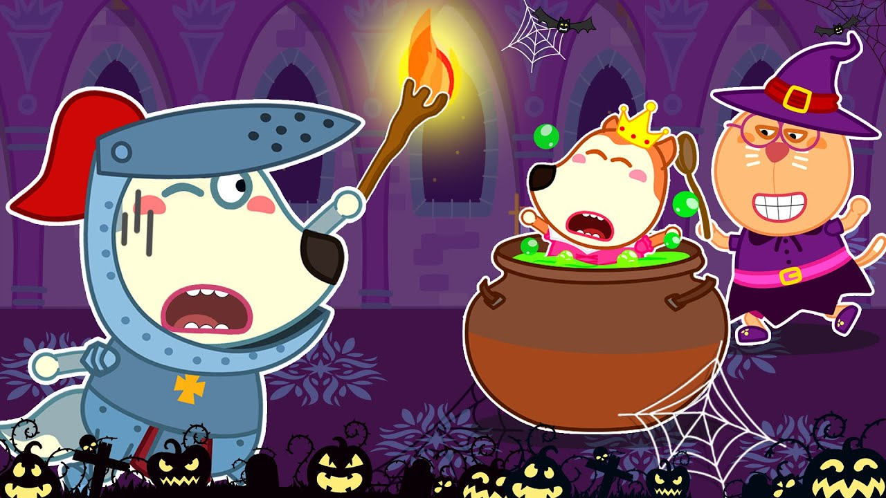 Wolf Family⭐️ Wolfoo Pretend Play Halloween and Rescues Lucy - Wolfoo Kids Stories | Kids Cartoon