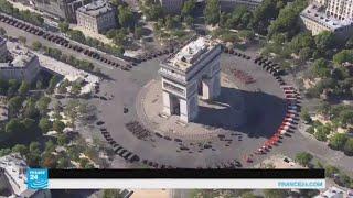 ماكرون يفتتح العرض العسكري بمناسبة العيد الوطني الفرنسي