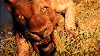 Smilodon - All prey hunting animation in SLOW MOTION - Saber tooth