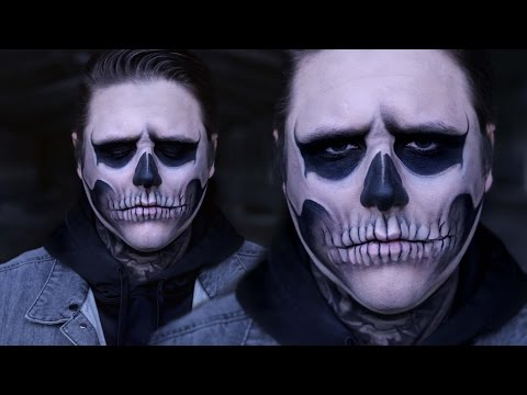 TATE LANGDON SKULL | AHS | Halloween Costume Makeup Tutorial | RawBeautyKristi