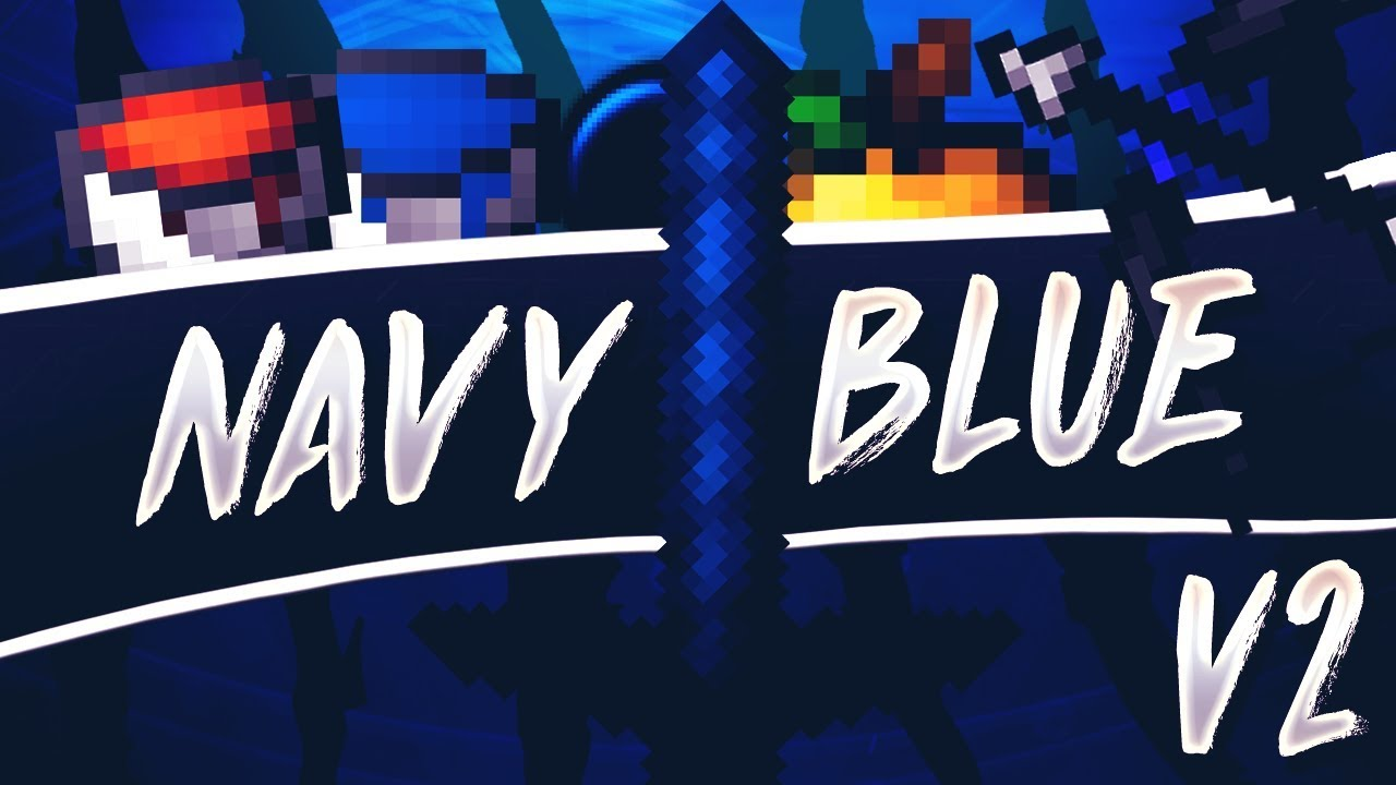 Minecraft Navy Blue v2 + Discord 🌊 (Hypixel Skywars/PvP Texture Pack)