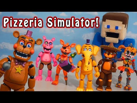 Five Nights At Freddy's Funko Pizzeria Simulator Fnaf Articulated Action Figures Set UNBOXING!