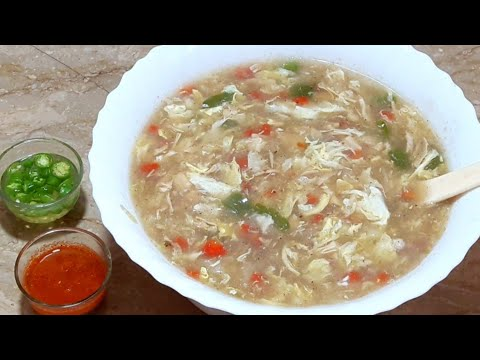 Hot And Sour Soup Recipe || How To Make Hot And Sour Soup At Home By Maria Ansari ☆