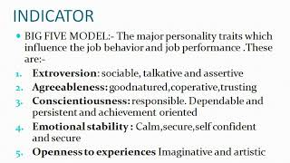 PERSONALITY PART 1 ORGANIZATION BEHAVIOUR