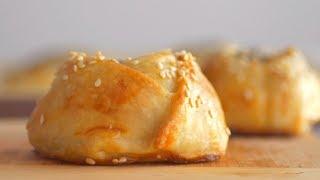 """""""Горячее"""" тесто без дрожжей и разрыхлителя + Пирожки с баклажанами"""