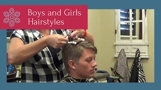 Boys Curly Hair How To Add Curls To Boys Hairstyles Male Perm Youtube