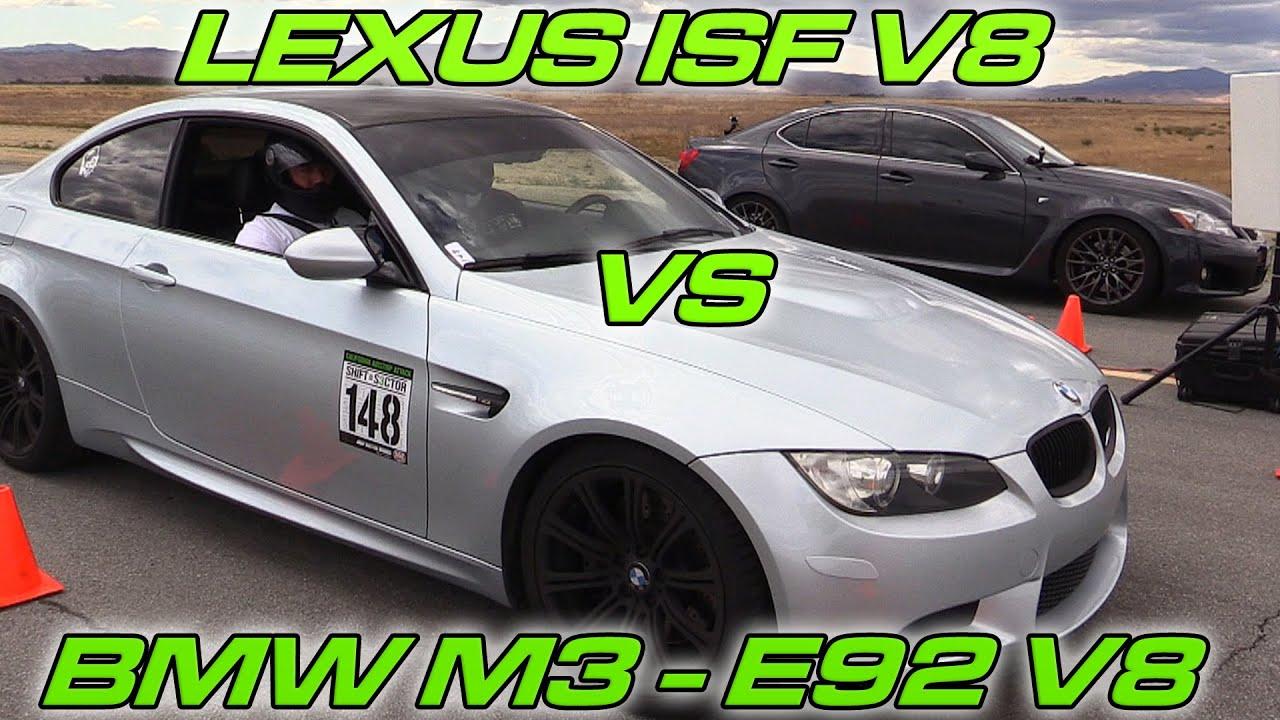 Lexus Isf Vs Bmw E92 M3