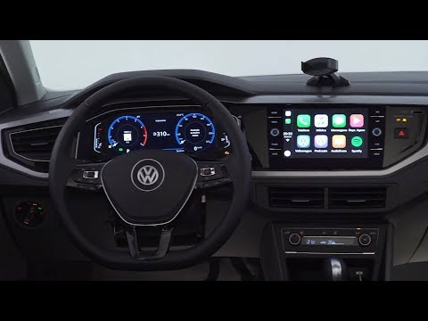 VW Polo 2018 brasileiro - teaser do interior do topo de linha - www.car.blog.br