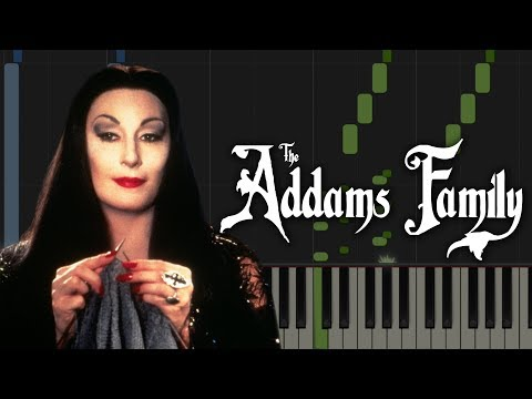 The Addams Family Main Theme | Piano Tutorial & Sheet