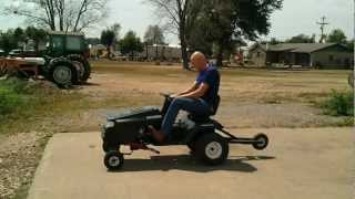 Drag Racing Craftsman Riding Mower Dragster