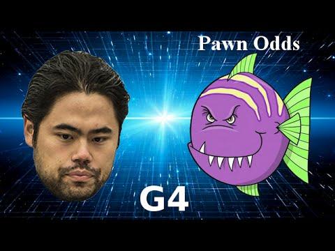 Hikaru Nakamura vs Stockfish minus b-pawn - Game 4 of 4