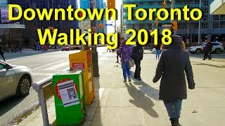Downtown Toronto Walking 2018