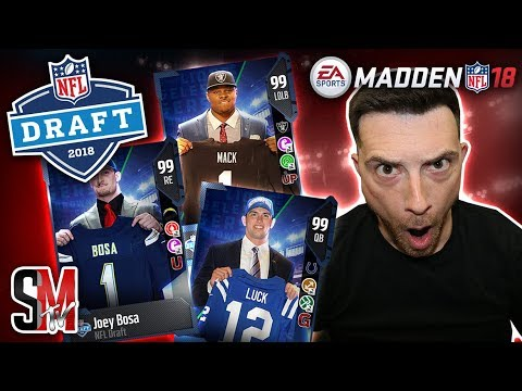 NFL Draft Night Madden Style! New Draft Masters, Limiteds & Packs - Madden NFL 18 Pack Opening!