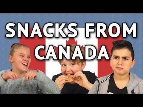 German Kids try Snacks from Canada (and Poutine)