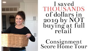 Decorate with consignment and thrift store items house tour.  I saved thousands of dollars!