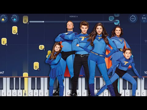 The Thundermans Theme Song - Piano Tutorial
