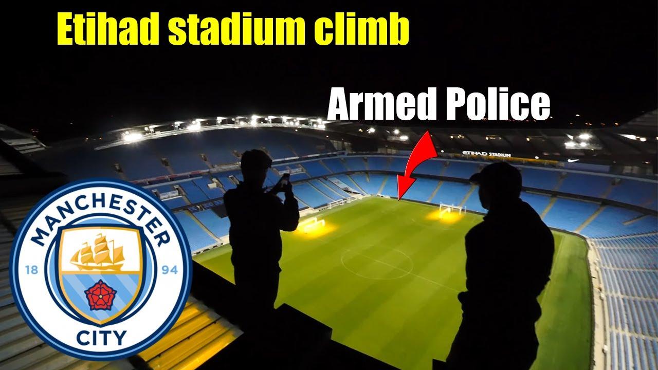 Arrested Etihad Stadium Manchester City Roof Climb