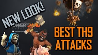 DESTROYING IN WAR - BEST TH9 ATTACKS!