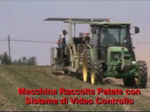 Raccolta patate con sistema di telecamere per il video for Raccolta patate