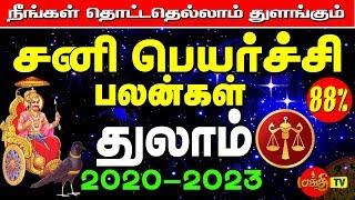துலாம் ராசி சனி பெயர்ச்சி பலன்கள் 2020 to 2023 Thulam Rasi Sani Peyarchi 2020to2023