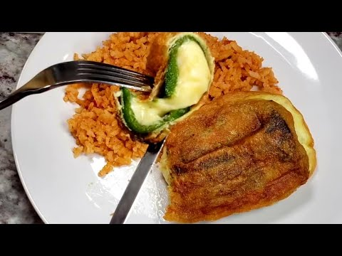 Potato and Cheese Chile Rellenos | Mexican Style Stuffed Peppers | Chile Relllenos Recipe