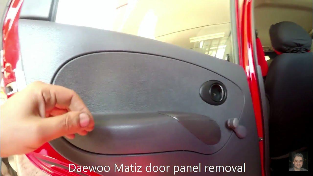 Daewoo Matiz (1998-2007) rear door panel removal - YouTube