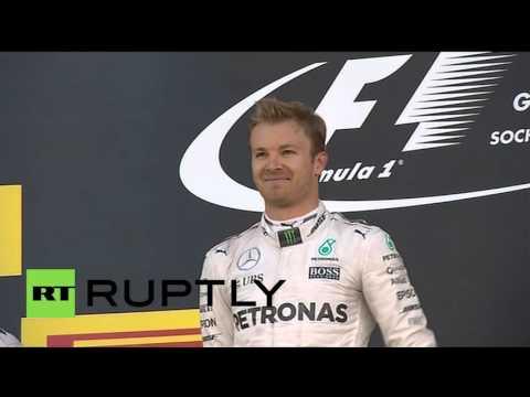 Russia: Putin awards Nico Rosberg with Russian F1 Grand Prix trophy