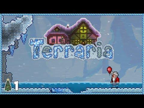 Terraria 1.3.5 Christmas Let's Play - Day 1 (Santa's Coming!)