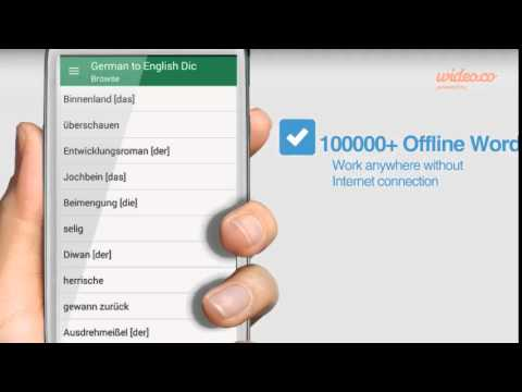 English German Offline Dictionary - by Wideo.co