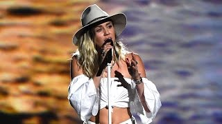 Watch Miley Cyrus Tear Up While Singing 'Malibu' at 2017 Billboard Music Awards